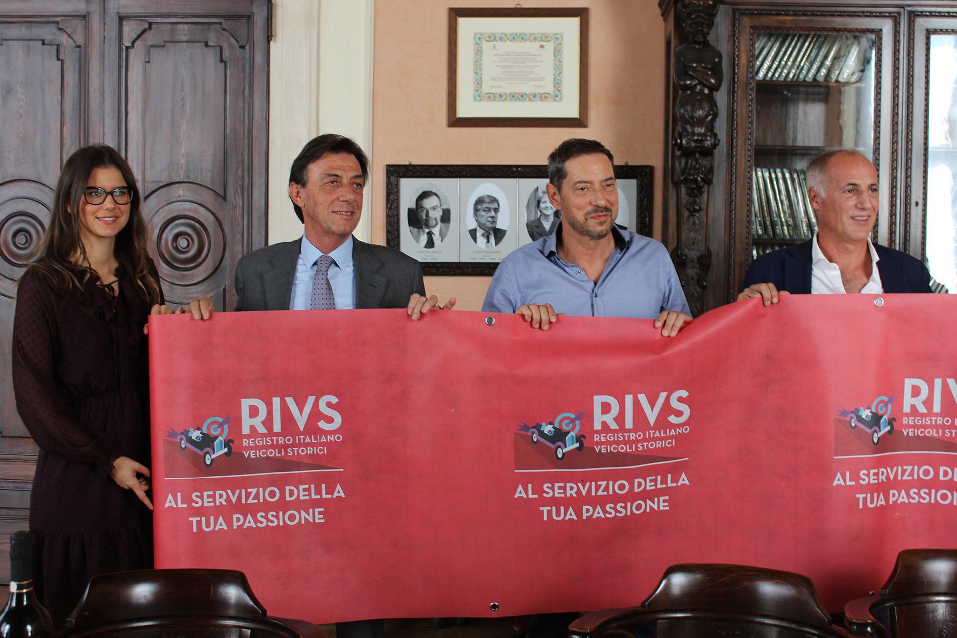 Taira Nicoletto (Presidente ACSI Padova) - Sergio Giordani (Sindaco di Padova) - Rossano Nicoletto (Presidente RIVS) - Diego Bonaviva (Assessore allo Sport)